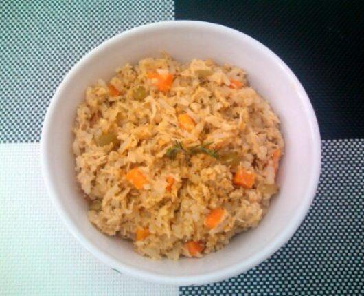 Arroz de galinha simplificado (calorias reduzidas)