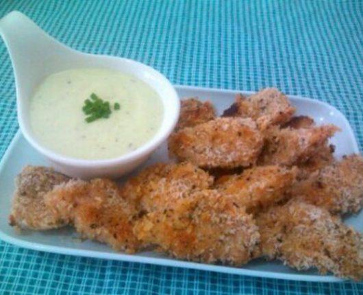 Iscas crocantes de frango (calorias reduzidas)