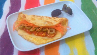 Sanduíche de omelete (sem pão)