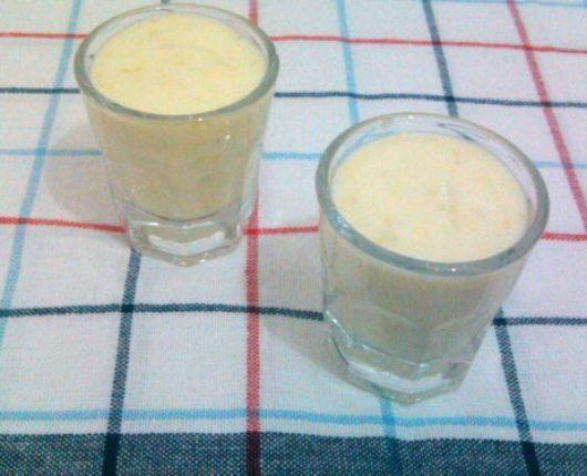 Iogurte aromatizado com laranja